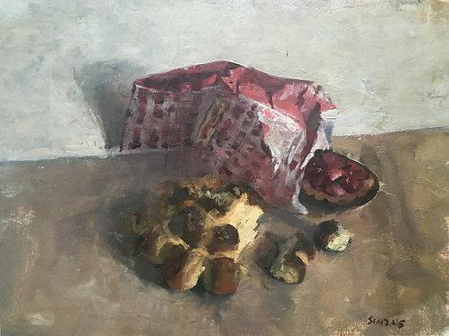 A brioch and a dessert