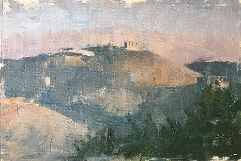 Jerusalem Hills at sunset (haddasa ein caram)