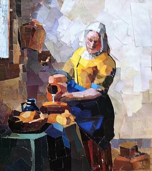 Colage after vermeer