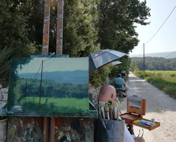 Back to Provence teaching painting and discovering new places