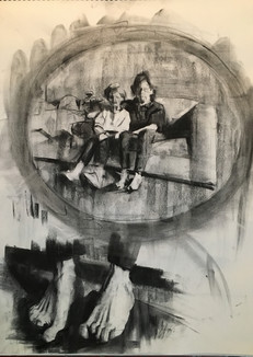 Charc Preparatory drawing for grandmoma4