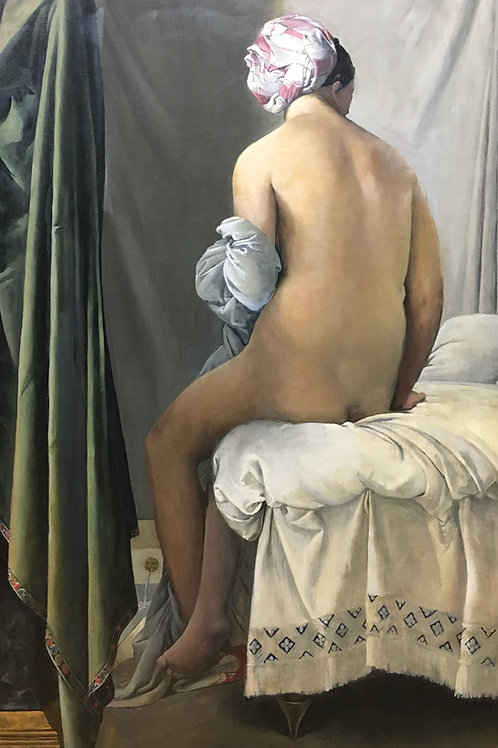 """The valpincon bather"" copy after Ingres"