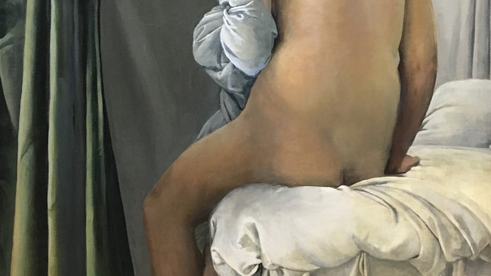 """""""the valpincon bather"""" copy after ingres"""