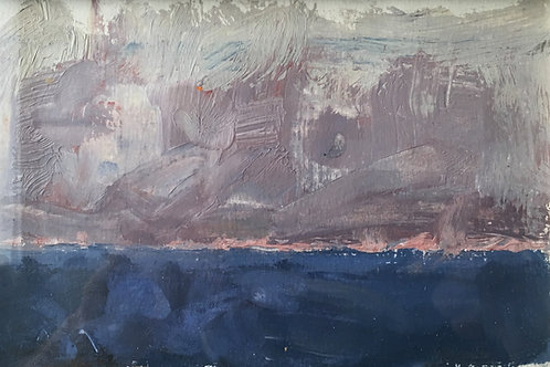 The sea from an oil painter and gas platform