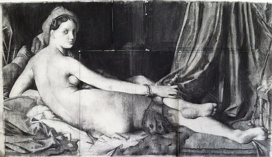 Copy after the odalisque by ingres