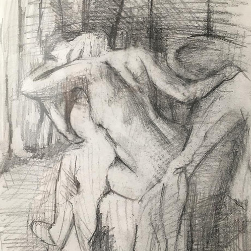 A drawing (after degas) from the national gallery