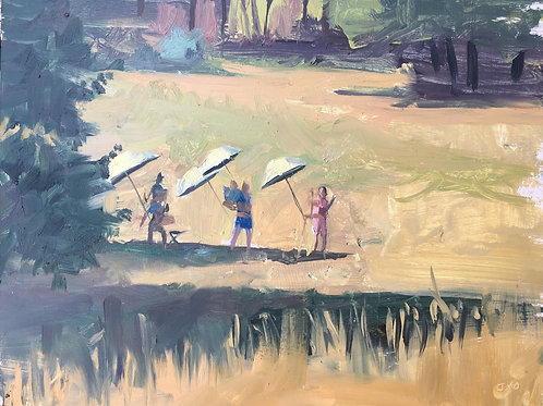 Plein air painters in provence