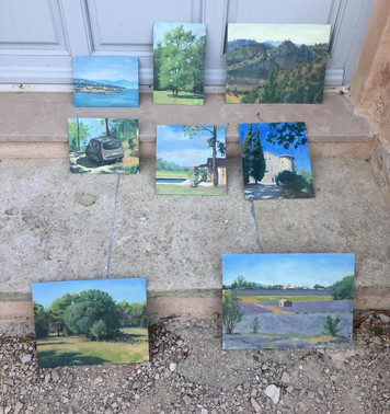 A few recent paintings from the workshops in Provence