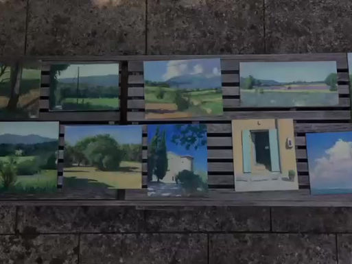 Beauty , painting in Provence , and a short video of the first week's work.