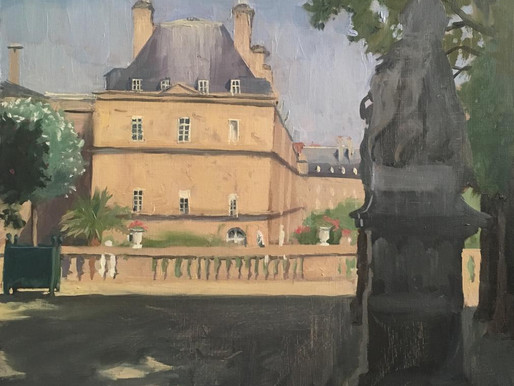workshops in Paris are fun, this time  we painted at Luxembourg gardens!!!