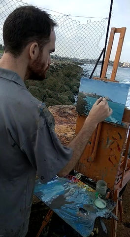 Back in Israel painting in Tel-Aviv yafo