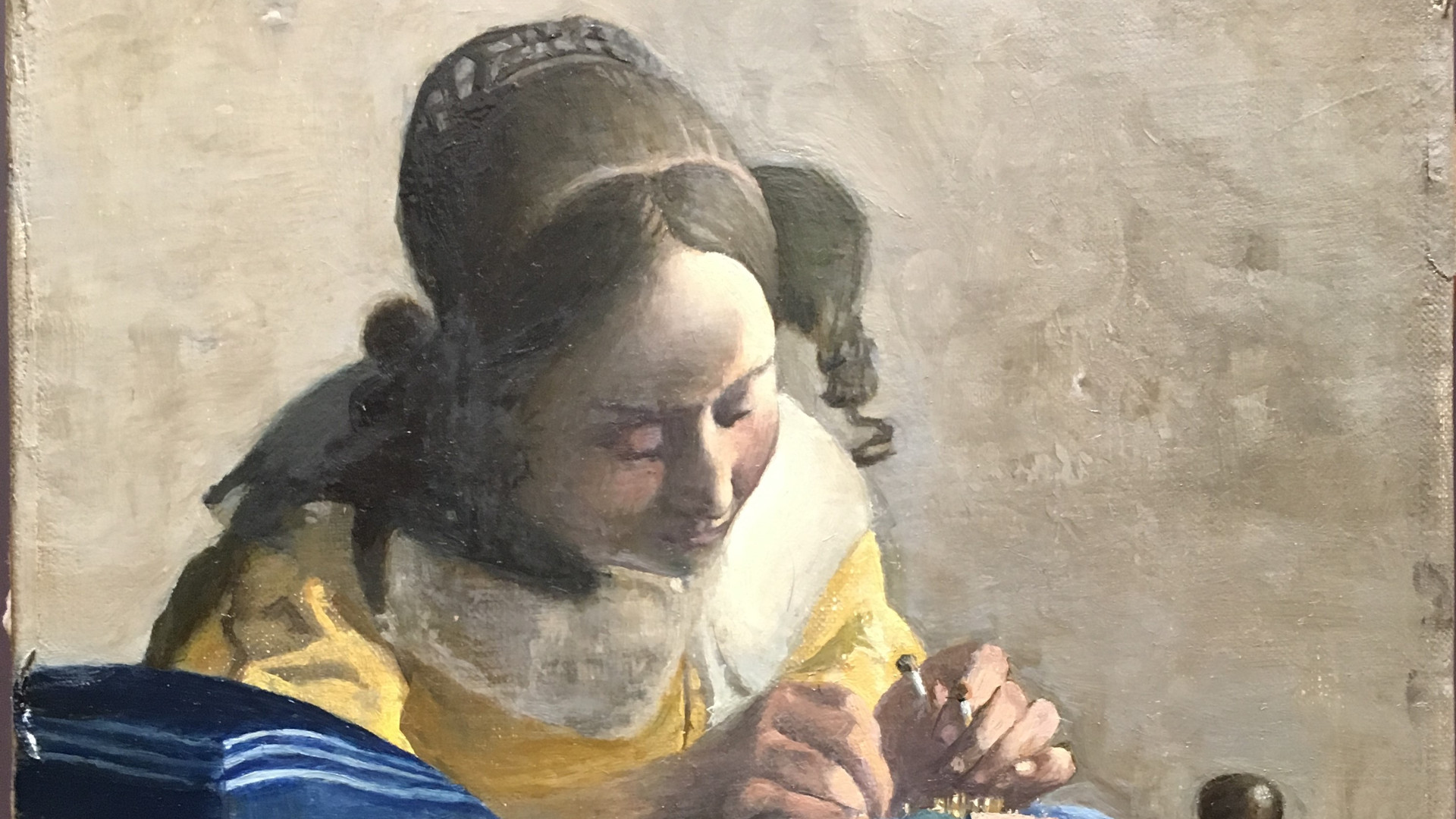 The lace maker a copy after vermeer