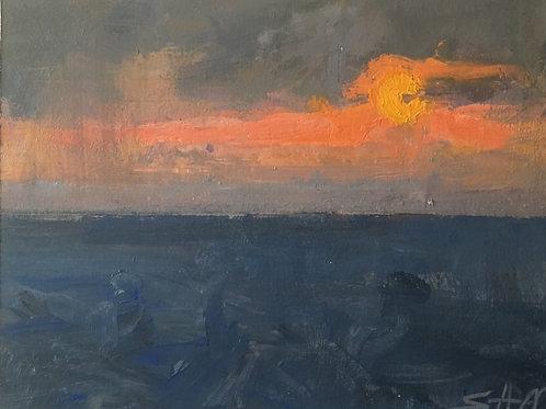 Sun set from the mari B