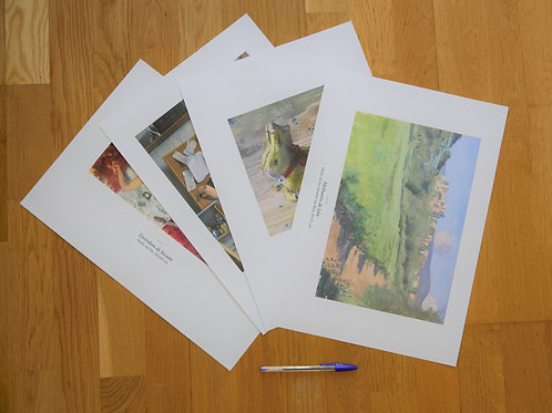 Signed high quality reproduction prints A3 (29.7X42cm)