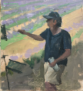 Julian Merrow Smith painting lavender