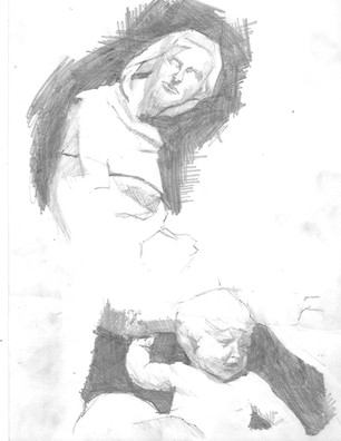 Pisano & romeios drawing from sienna