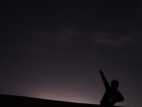 真夜中の鳥取砂丘
