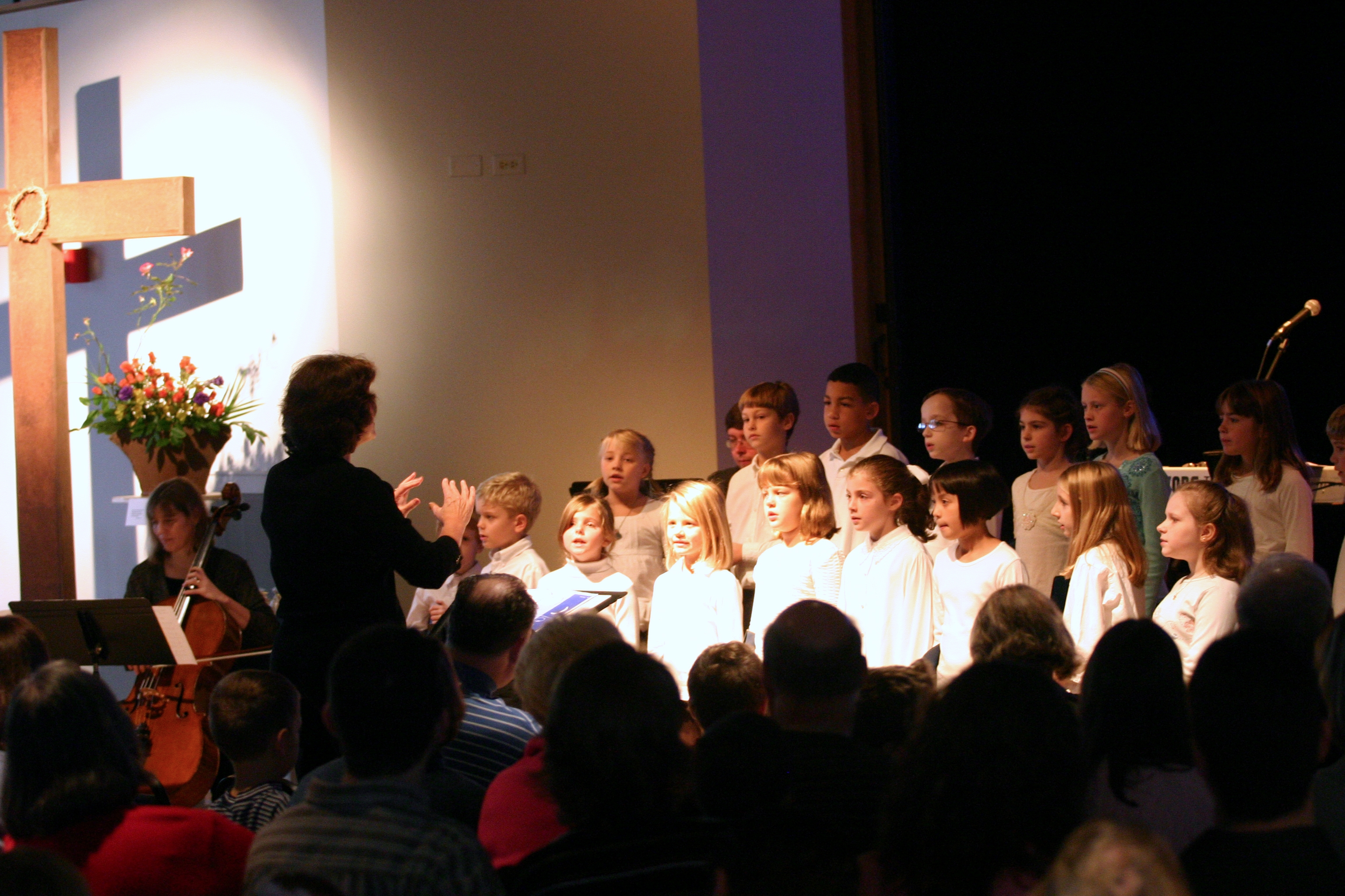 First year directing the Junior Choir at First Presbyterian Church