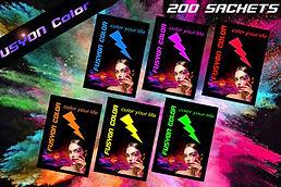 Sachets de poudre colorée