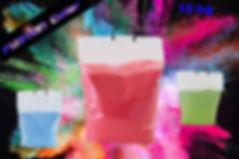 Poudre colorée en sac