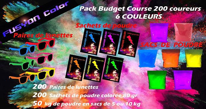 Pack course colorée