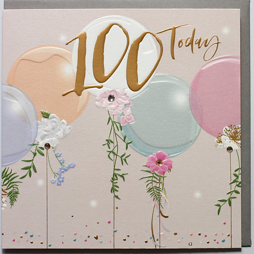 Belly Button Cards - 100th Birthday