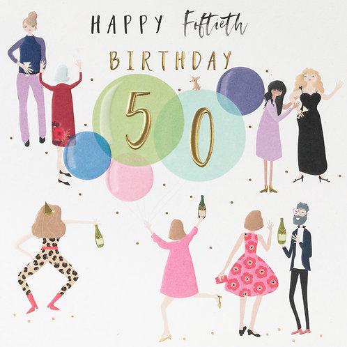 Belly Button Design - 50th Birthday