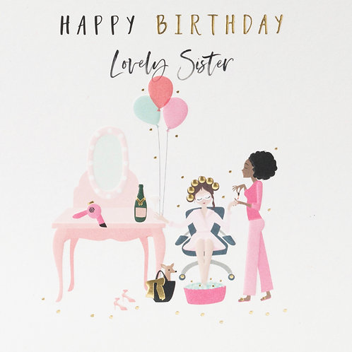 Belly Button Cards -Sister Birthday