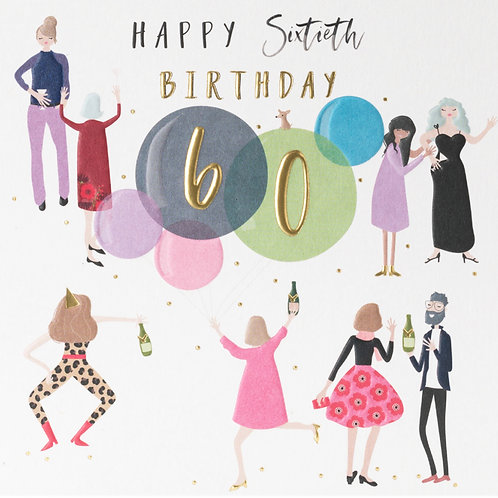 Belly Button Cards - 60th Birthday