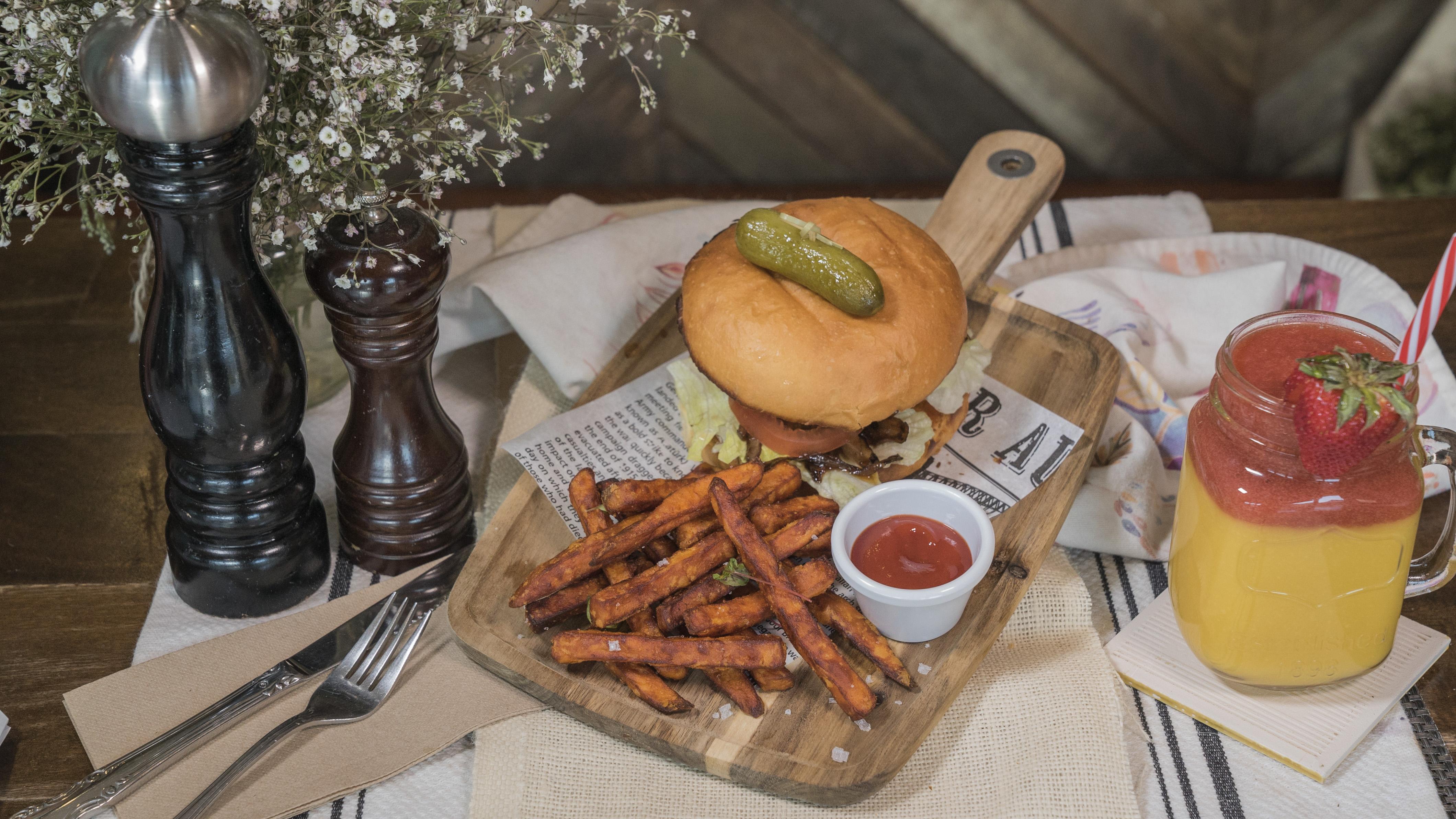 100% Aussie lean Beef Burger