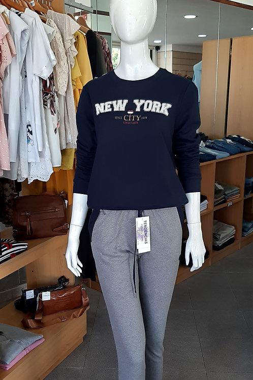 """Camisola  """"NEW YORK""""com Carda"""