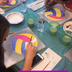 VOLLEYBALL TEAM  PAINT PARTY