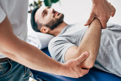 Chiropractor performing manual therapy treatments