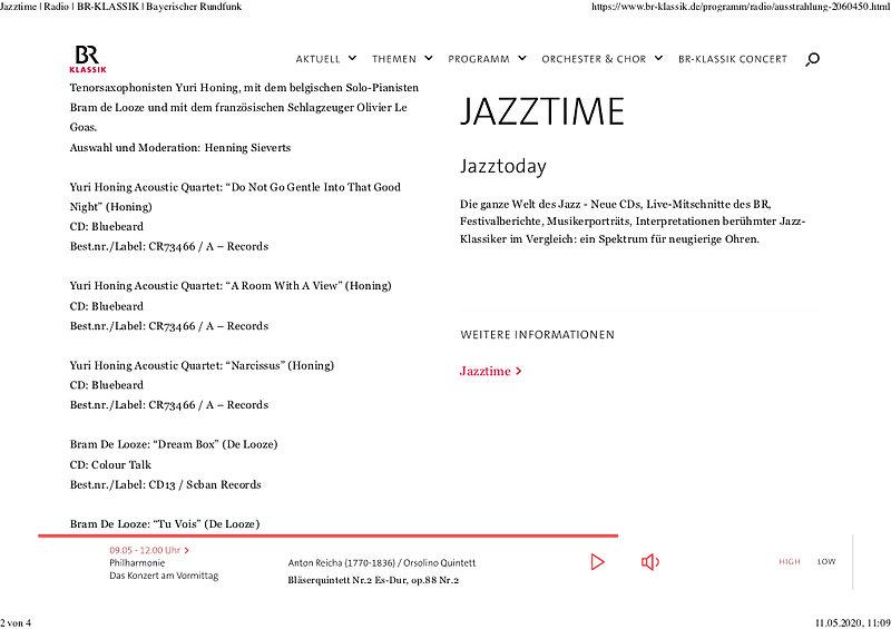Jazztime _ Radio _ BR-KLASSIK _ Bayerisc