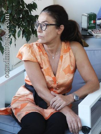 """Paola Mattucci (Presidente ass. cult. MFF) alla presentazione """"La casa di cartone"""" di Roberto Moliterni"""
