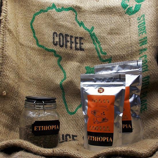 """kawa ziarnista Ethiopia Djimmah Deluxe świeżo palona z obróbki """"honey"""""""