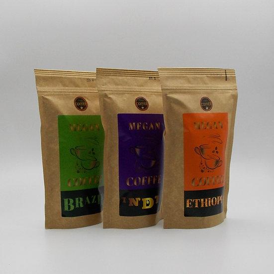 zestaw kaw ziarnistych świeżo palonych single origin