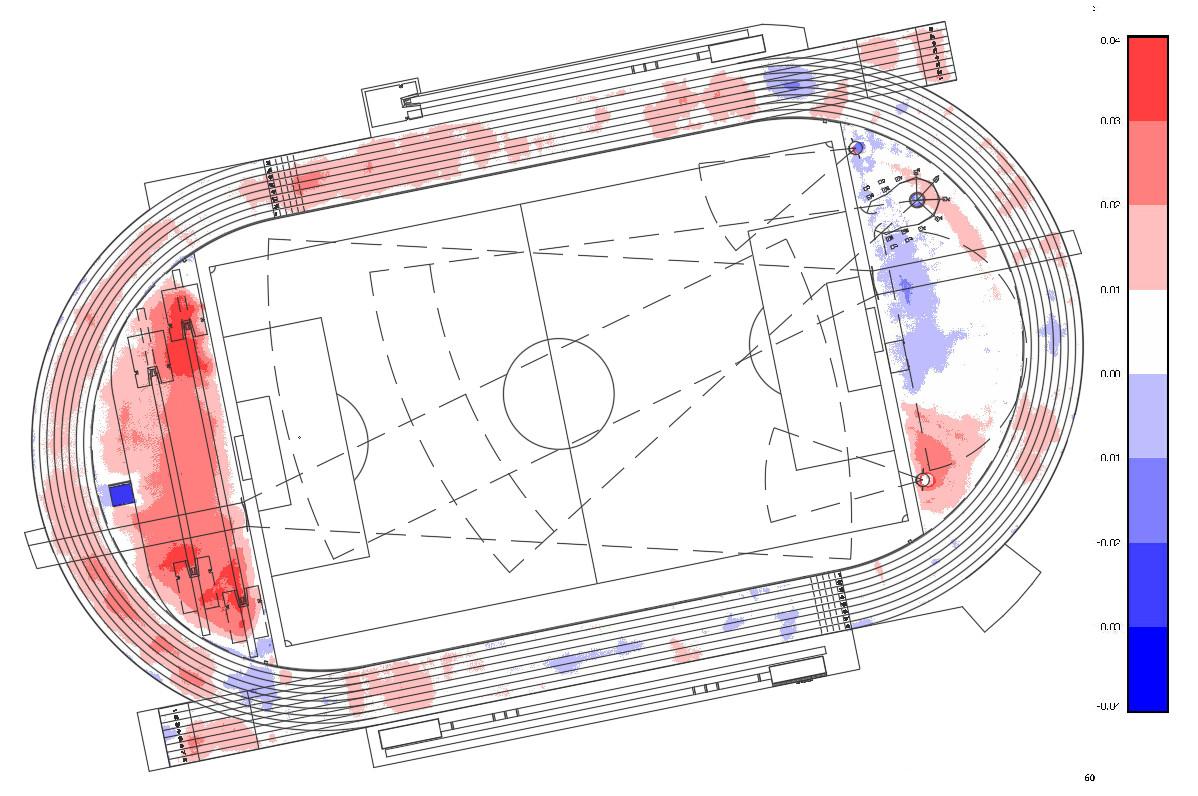 Mappa colore distanza da piano ideale