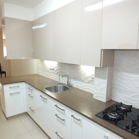 Modern with Kitchen Wall Detail