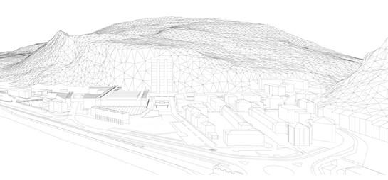 Modello 3D proposta urbanistica