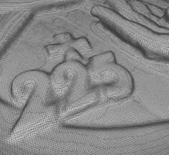 Tessitura superficie del modello