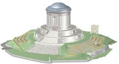 Modello 3D progetto di ampliamento lapidi cimiteriali