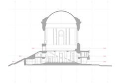 Sezione architettonica al tratto