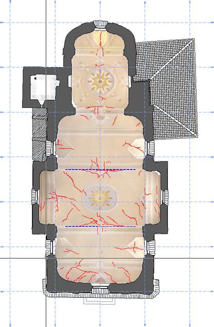 Ortofoto soffitto con fessurazioni