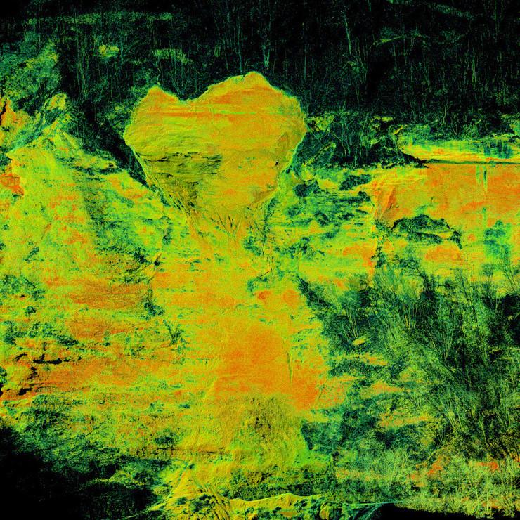 Ortofotopiano fronte da nuvola di punti, colore da riflettanza laser scanner