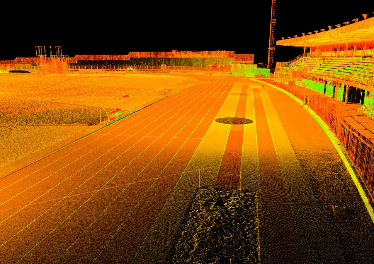 Nuvola di punti da rilievo laser scanner
