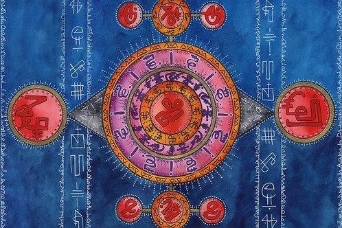 Handmade, blank, eco friendly greetings cards - Sacred geometry