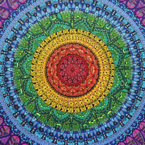 Soulfilled rainbow mandala