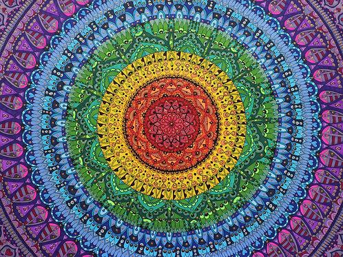 Soul filled rainbow mandala 2019
