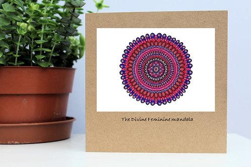 Handmade, blank, eco friendly greetings cards -Mandalas